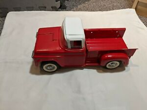 1960's Buddy L Vintage Pickup Truck Straight, Repainted w/ chips 1958 Ford step