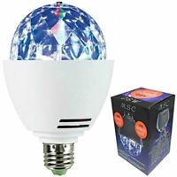 MSC LED E27 - (B22 Available) Disco Ball Light Rotating Multi-Coloured Lightbulb