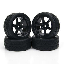 12mm Hex Flat Drift Tire Wheel Rims 4Pcs Set For 1:10 RC On-Road Car PP0072/150