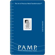 PAMP Suisse 1 Gram .9999 Palladium Bar Fortuna Sealed With Assay Certificate