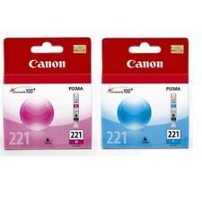 Genuine Canon CLI-221 CLI-221C CLI221-M Cyan Magenta Ink Cartridges New Sealed