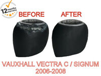 FITS VAUXHALL VECTRA C SIGNUM 2006-2008 ITALIAN LEATHER GEAR KNOB COVER ONLY