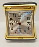 Vintage Travel Alarm Clock Model 102-5 Equity Fold-up Collectible Timepiece