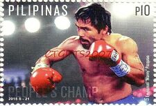 Collectible 2015 Pacman Manny Pacquiao Philippines Stamp Postal USA Ship Brand N