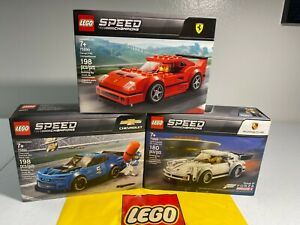 LEGO Speed Champions Lot of 3 sets 75890  75895  75891  NEW SEALED FREE SHIPPING