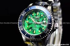 NEW Invicta 38mm Super Grand Diver 300M Green Abalone Auto. SS Bracelet Watch