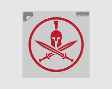 High Quality Vinyl Sticker Decal Milspec Monkey - SPARTAN Helmet - Large - RED