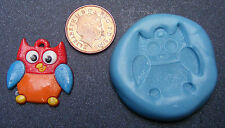 Reusable Owl Silicone Food Safe Mould, Mold, Sugarcraft, Jewellery, Cake