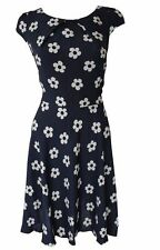 Viscose Casual Floral Round Neck Dresses for Women