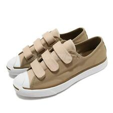 Converse Jack Purcell 3V Khaki White Strap Men Women Casual Shoes 168978C