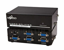 1x4 4 Port VGA SVGA Video Splitter Amplifier Duplicator High Bandwidth 350MHz