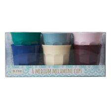 RICE Melamine - Set of 6 Medium Cups - Urban Colours