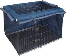 Explore Land Dog Crate Cover for 24 30 36 42 48 Inches Wire Cage, Heavy-Duty Lat