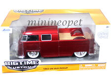 JADA BIGTIME 96957 1963 63 VW VOLKWAGEN BUS PICK UP TRUCK 1/24 ORG. WHEELS RED