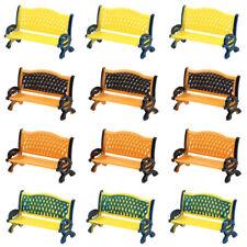 ZY34050 12pcs Model Train Railway Platform Park Street Seats Bench Chair 1:50 O