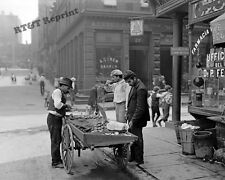 Photograph Vintage New York Clam Seller in Mulberry Bend Year 1904 circa   8x10