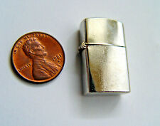 ZIPPO LIKE 1-INCH TALL OLD ORIGINAL MINI POCKET LIGHTER MADE IN JAPAN IS MINT