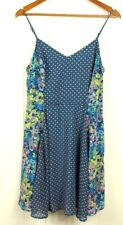 Fire L A Womens Size Large Skater Summer Dress Fit Flare Abstract Floral Print