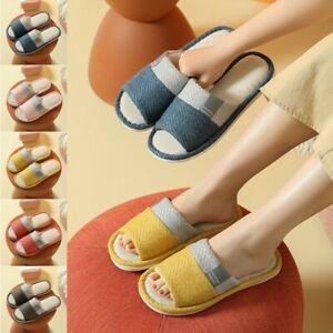 Unisex Sandal Women Men Soft Indoor Home Room Slippers Anti-slip Shoes Open Toe