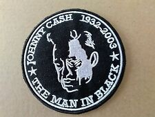 JOHNNY CASH  WOVEN SEW OR IRON ON PATCH