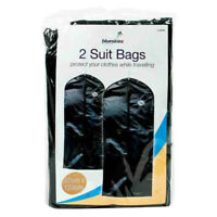 2x Travel Dress Bag Hanging Zip Up Garment Carrier Suit Cover Clothes