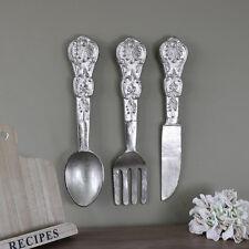 Grandes de Metal Colgante De Pared decoración Cubiertos Cuchillo Tenedor Cuchara Ornamento De Regalo