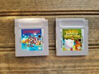 Lot of 2 : Kirby's Dream Land and Super Mario Land Gameboy Games