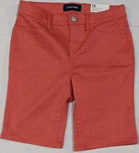Old navy girls orange Bermuda shorts size 14 New