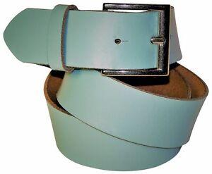 FRONHOFER Genuine leather belt for women and men, silver buckle, khaki, bordeaux
