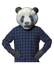 Panda Bear Screen Print Realistic Mask And Glove Adult Costume Kit