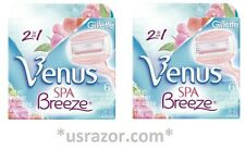 12 Breeze Spa Gillette Venus Razor Blades Cartridges Refill Shaver Women USA 2*6