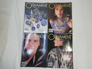 Lot of 4 ORNAMENT Personal Adornment For Inspiring Ideas Magazines Back Issues