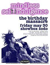 MINDLESS SELF INDULGENCE 2008 Gig POSTER Seattle Washington Concert
