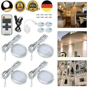 4x 12V LED Warmweiß Innenraumleuchte Beleuchtung Deckenlampe Wohnmobil Wohnwagen
