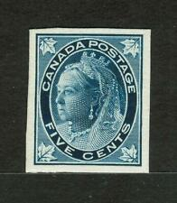 CANADA 5¢ Large Margined Dark Blue #70P Queen Victoria (1897) Plate Proof #5597