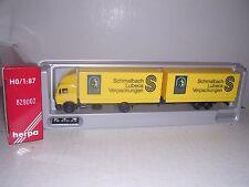 "Herpa #829002 Mercedes Box Truck w/30' ""Dosen Recycling"" Box Tr.""Yel"" H.O.Gauge"