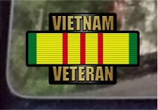 "ProSticker 1059 (One) 4"" Vietnam Veteran Decal Sticker Service Ribbon"
