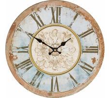 Uhr Wanduhr Home affaire Ø 34 cm MDF blau-bunt    236730