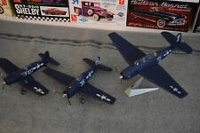 Lot of 3 1/72 WW2 Model Aircraft Corsair, Hellcat, Avenger