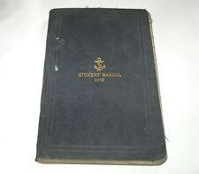 More details for  ww1 royal navy 1912 stokers manual