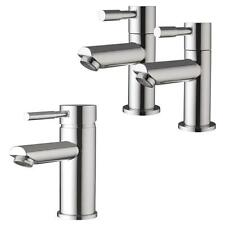 Modern Minimalist Bathroom Pillar Column Bath Taps And Basin Mixer Tap (Lola 31)