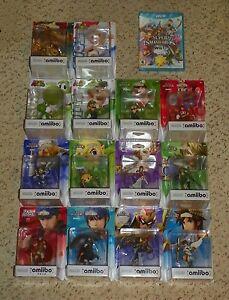 Super Smash Bros. w/ 14 Amiibo (Nintendo Wii U, 2015) - Pit, Ike, Marth & Zelda