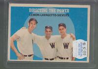 1959 TOPPS #74 DIRECTING THE POWER LEMON LAVAGETTO SIEVERS SENATORS BK$12.00 B