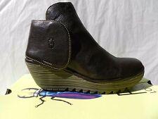 Fly London Yogi Chaussures Femme 37 Bottines Montantes Bottes Yama Compensé UK4
