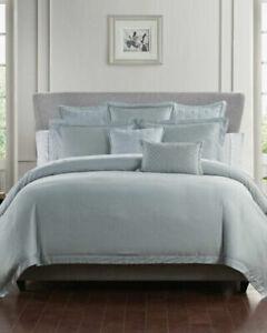 NIP Waterford Fine Linens Thayer Blue Haze Full/Queen Duvet & Shams Set