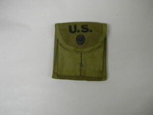 "ORIGINAL US GI WWII M1 CARBINE KHAKI STOCK POUCH ""CHARLOTTE TENT & AWNING"" 1943"