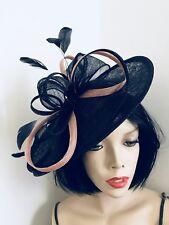 Nuevo Sombrero Azul Marino desnuda Fascinator de la boda platillo formal señoras para mujer Hatinator Disco