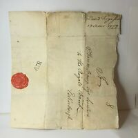 1779 letter to Royal Bank Edinburgh Wax seal Dread God