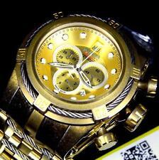 Invicta Jason Taylor JT Reserve Bolt Distressed Industrial Gold Swiss Watch New