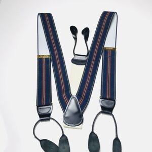 JOS A BANK Blue Striped Suspender Belt Braces